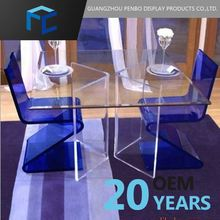High Quality China Manufacturer Acrylic Solid Glass Dinning Room Table