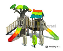 2015 new forest theme park kids outdoor plastic playground for sale