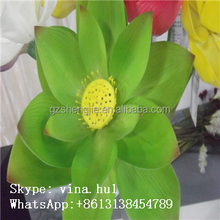 GZ-SJ green lotus artificial fake water lily for home decoration