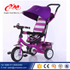 Russia Market Children tricycle with trailer/kids tricycle safety belt and roof /baby tricycle for sale