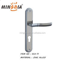 Big size plate door handle with lock set