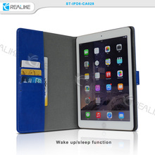 Most popular strong magnetic folio leather case for ipad pro 12.9, credit card slots & stand function