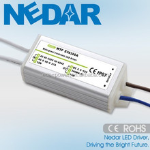 PF>0.9 led lighting driver 3w waterproof ip67 constant current 280ma 300ma