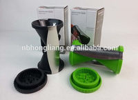 whole sale green and black plastic stainless steel vegetable chopper
