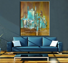 abstract art paintings modern oil paintings city canvas art decorative pictures for living room oil paintings art on canvas