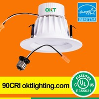 "UL cUL Energy Star listed 9Watt 660lumens 4"" Dimmable Recessed Led Retrofit lighting"