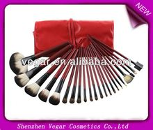 22pcs Red Make up Mineral Brushes air brush makeup kit
