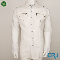 New design cotton men casual shirts with pocket