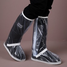 High Quality transparent Waterproof Rain Shoes Cover Men Cycle Rain Boots Flat Slip-resistant Overshoes