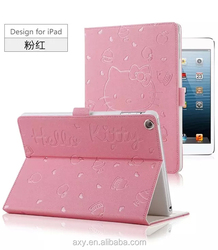 [Wholesale]Kickstand PU Leather case for ipad mini/2345 #A1200 /Ship within 24-48hours, moq 1piece