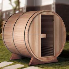 Hot Sale 2 Person Outdoor Red Cedar Barrel Sauna Room (GT-KB002)