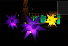 2015 colorful inflatable LED star for party