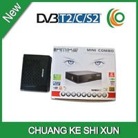 High quality Amiko mini hd combo receiver dvb S2/T2/C support cccam card sharing hot selling in Europe