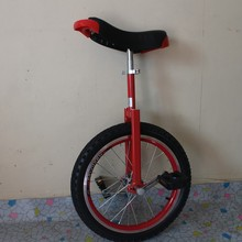 "Motorcycle 16"" Double alloy rim Unicycle Height Adjustable Red color CE/ASTM F963-11 Approved"