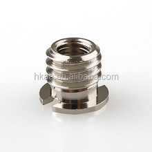 cnc machined stainless steel polished convert screw adapter for tripod