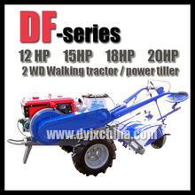 12hp water cooled diesel engine walking tractor , low price power tiller for sales