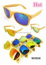 2015 Fashion Custom Plastic Fake Wooden Sunglass, Plastic Fake Bamboo Sunglass