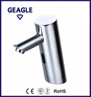 Brass all-in-one (solenoid valve & lithium battery built-in) single supply basin automatic sensor faucet, DC6V CE ZY-8912