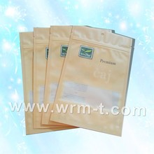 Plastic food packaging stand up pouch bag with zipper for fresh fruits