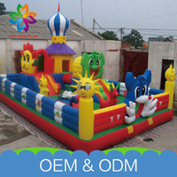 Customized Outdoor Inflatable Bouncy Safe Giant Inflatable Castle For Sale