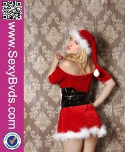Wholesale Cute Naughty White &Red Christmas Party Costumes