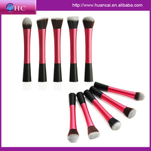 Pro makeup sets 5pc color handle brush with evening party case and woven fabric outside nylon fabric inside