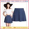 New style summer Fashion women denim print Skirts button waist casual slim skirts