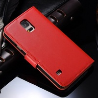 Colorful cell phone wallet case for Samsung S5, leather cell case for S5, quality cell phone case wallet for galaxy S 5