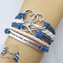Bracelets & Bangles High Fashion Bird Multilayer Bracelet Infinity Bracelet Handmade Women Jewelry Charm Bracelet