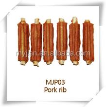 dog food and pet treats pork rib MJP03 snacks dry bulk dog chewing training treats natural factory manufacturer