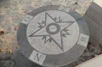 blue limestone compass rounded compass
