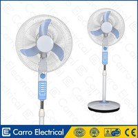 Led dc solar ventilateur 12v fan 16inch with dc motor 15w standing fan