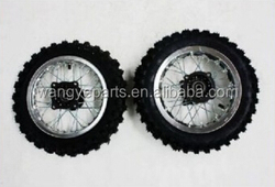 """Silver 10"""" Inch Front and Rear Alloy Wheel Rim Knobby Tyre Tire PIT PRO Trail Dirt Bike Parts"""