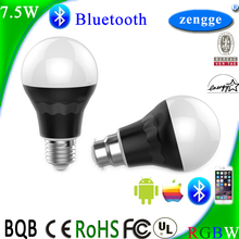 7.5w RGBW Bluetooth Led E27 New Bulb Smart Home Control System Low Cost Greenhouse IOS/Android Smart App Modern Lighting
