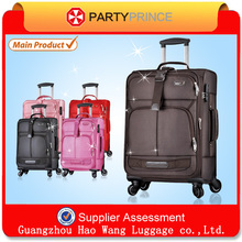 2015 best selling cheappest fabric polyster soft travel trolley luggage bag