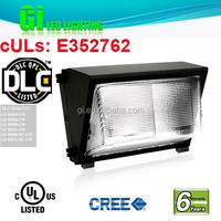 UL DLC listed high efficiency led wall pack available in US warehouse with 6 years warranty