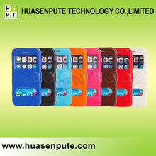 For iPhone Two View Window Flip With Double Window Case Leather Case