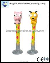 novelty eye popper squeezable animal toy ball pen