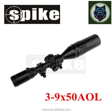 Tactical dual illuminated optical rifle scope with sun shade for hunting shooting