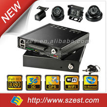 SSD&HDD Mobile DVR with 4CH/8CH+1080P+3G+WIFI+GPS Track+G-Sensor for CCTV Bus, Truck, Police Car Solution
