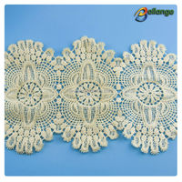 Wholesale embroidery bridal lace trim for wedding dress, corded lace for lingerie from Bailange Trimmings