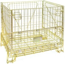 industrial stackable storage wire mesh containers metal cages for storage