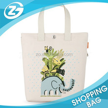 Custom Reusable Lovely Printed Girls' Cotton Tote Bag