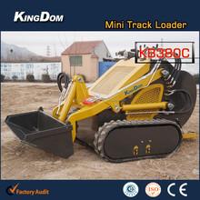 Durability mini crawler dozers, skid loader model KB380 like hitachi/bobcat/mustang/gehl/case/volvo