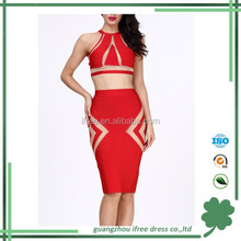 2015 sexy two pieces set party dress fashion bodycon latest dress design