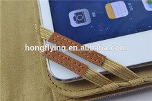 PU leather cover for iPad mini 2 with elastic strap