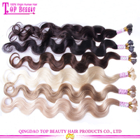 Fashion color good feedback human hair italian keratin hair extensions