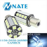 12V 100% Error free car Led Turn Light 1156 26SMD 13W Single Contact Bayonet Base Canbus Light