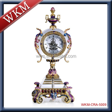 home decoration metal luxury table clock