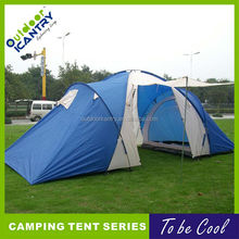 family camping tent factory high quality 3 rooms one parlour outdoor capacity camping tent 2015